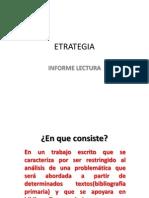 ETRATEGIA INFORME LECTURA