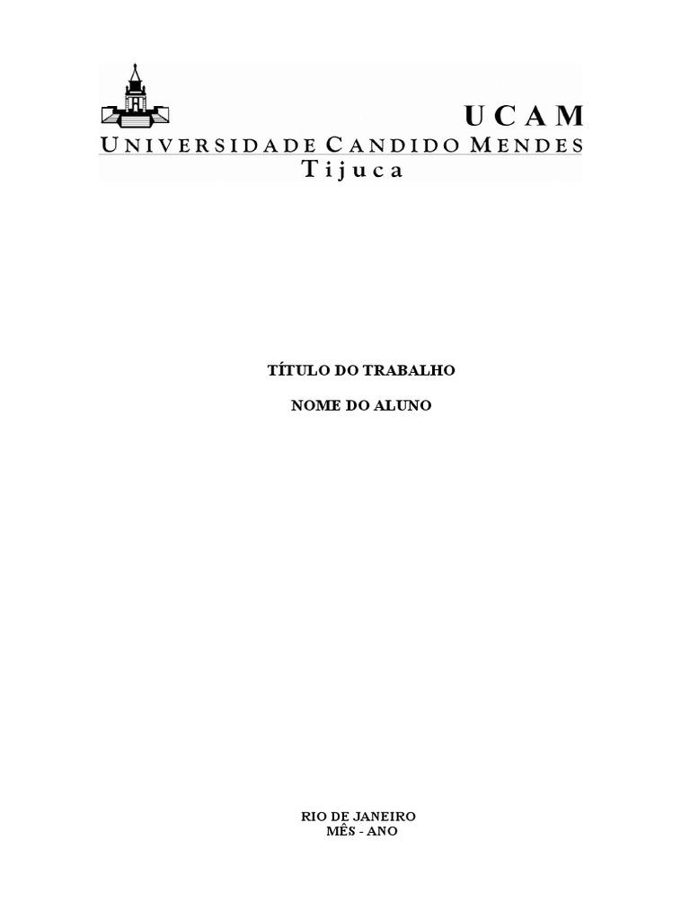 MODELO DE TRABALHOS ACADEMICOS