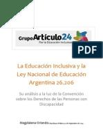 Clase 1. La Educación Inclusiva y La Ley Nacional de Educación Argentina - Su Análisis a La Luz de La CDPD - Mg. Magdalena Orlando