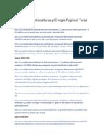 Publicaciones Ministerio de Hidrocarburos y Energia Regional Tarija