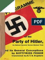 Feder Gottfried - The Programme of the NSDAP