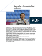 Euro 2012 Tiebreaker Rules Could Affect Group C Outcome