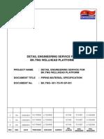 BK TNG 001 TS PI SP 001_Piping Specification_Rev 2