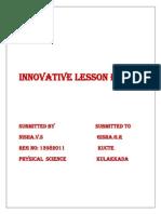 Innovative Lesson Plan