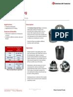 Pump Out Plug Technical Datasheet