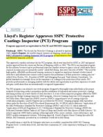 Lloyd Approves PCI Program (1)