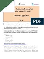 2015 Grad Cert Scholarship Info
