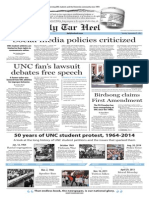 The Daily Tar Heel for Sept. 23, 2014