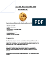 Galletas de Mantequilla Con Chocolate