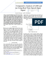 7 Simulation and Comparative Analysis of LMS AndRLS Algorithms Using Real Time Speech InputSignal
