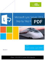 Microsoft Lync Server 2013 Step by Step for Anyone_REV014