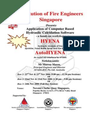 Hyena Brochure | Fire Sprinkler System | Auto Cad