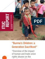 """Burma's Children, a Generation Sacrificed"" ITUC"