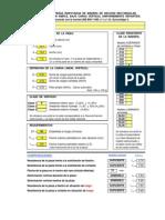 Hoja de Cálculo de Estructuras de Madera