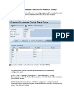 Assign Partner Function to Account Group