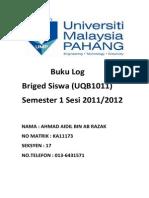 Cover Buku Log