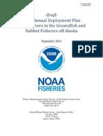 Draft 2015 observer deployment plan