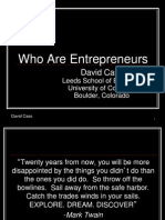 Who Are Entrepreneurs
