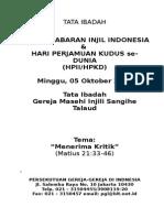 Tata Ibadah Hpkd Hpii 2014