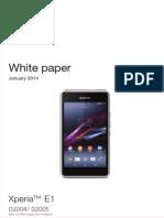 Whitepaper en d2004 d2005 Xperia e1