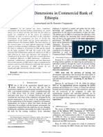 HRD Climate Dimensions in Commercial Bank of Ethiopia