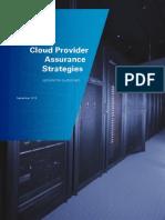 Cloud and Service Assurance