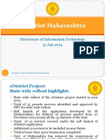 Maharashtra EDistrict Presentation for EGov Conf 30-31 Jan 14