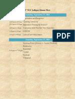NLU Jodhpur Alumni Meet Agenda