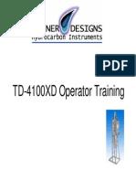 TD4100XD Presentation - TD-4100XD Operator Training