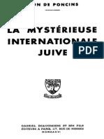 De Poncins Léon - La Mystérieuse Internationale Juive