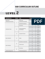 CFA Level 2 Program Curriculum Outline 2014