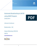 Automate Broadcasting in SAP BI