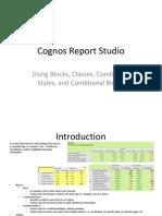 Conditional Formatting in Cognos 10