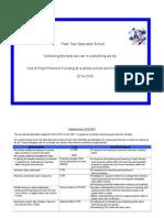 Pupil Premium Allocation 2014-15