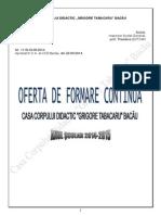 Oferta Formare Continua CCD Bacau 2014
