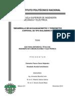 Desarrollo de Un Baumanometro y Termometro Corporal de Tipo Inalambrico