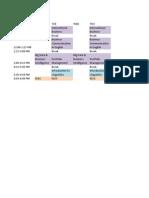 Sogang Schedule