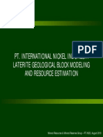 PT INCO Ni Laterite Block Modeling_2010!08!23