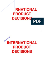 International Product Decisions