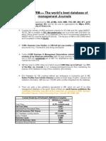 ABI/INFORM---- The World's Best Database of Management Journals