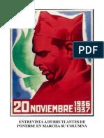 Entrevista a Durruti Antes de Ponerse en Marcha Su Columna