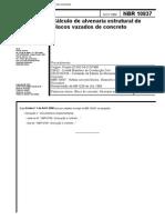 NBR 10837 - Cálculo de Alvenaria Estrutural de Blocos Vazados de Concreto