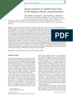 Austral Ecology Volume 38 Issue 7 2013 [Doi 10.1111%2Faec.12065] Tischler, Max; Dickman, Christopher R.; Wardle, Glenda M. -- Avian Functional Group Responses to Rainfall Across Four Vegetation Types in the Simpson De