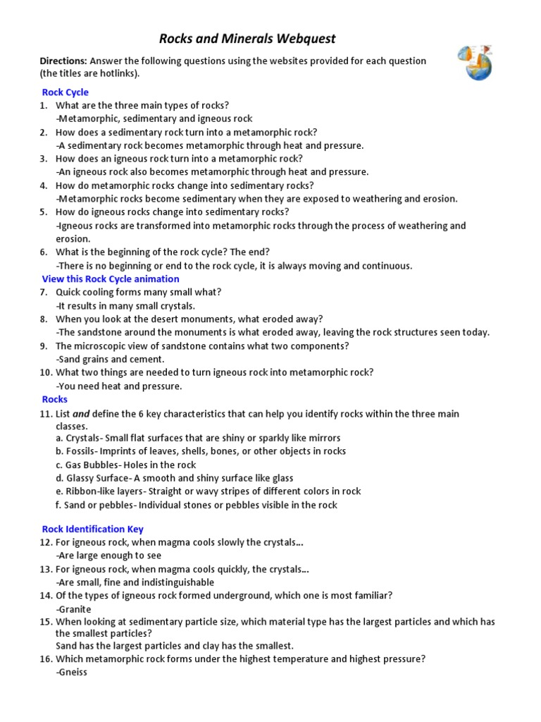 worksheet Rocks And Minerals Worksheets Pdf workbooks rocks and minerals worksheets pdf free printable webquest justin powers sedimentary rock pdf