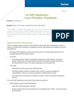 Gartner - Magic Quadrant for SAP Application Management Service Providers Worldwide (23 Oct 2012)