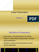 Chapter 3 Linear Kinematics