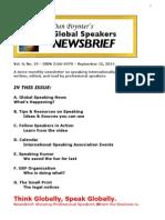 Newsbrief 15 Sept 2014