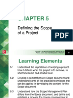 Defining the Scope of a Project