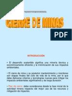 Cierre de Minas GENERAL
