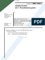 NBR 14653 1 2001 Avaliação de Bens Parte 1 Procedimentos Gerais